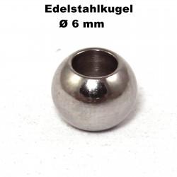 Kugeln Perlen aus Edelstahl mit Loch Ø 6 mm zum Basteln für Schmuck
