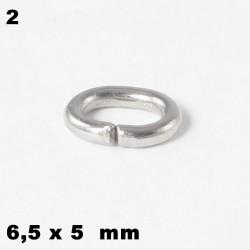 Ösen, Biegeringe oval6,5 x 5 mm Edelstahl  zum Basteln für Schmuck
