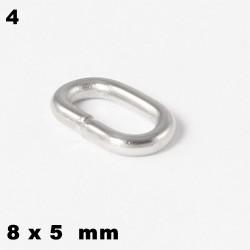Ösen, Biegeringe oval 8 x 5 mm offen Edelstahl zum Basteln für Schmuck