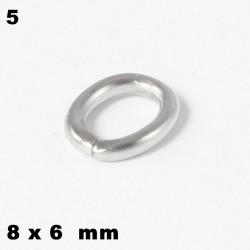 Ösen, Biegeringe oval 8 x 6 mm mm Edelstahl  zum Basteln für Schmuck