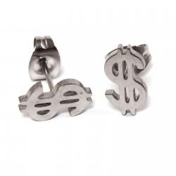 Ohrstecker Dollar-Zeichen aus Edelstahl