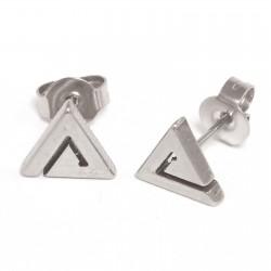 Ohrstecker Dreieck aus Edelstahl