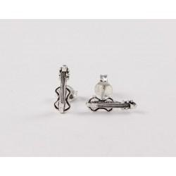 Ohrstecker Geige Silber