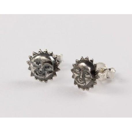 viel rabatt genießen große Auswahl an Designs beliebte Marke Ohrstecker Sonne Silber geschwärzt - Ohrsteckerking   Earstudsking